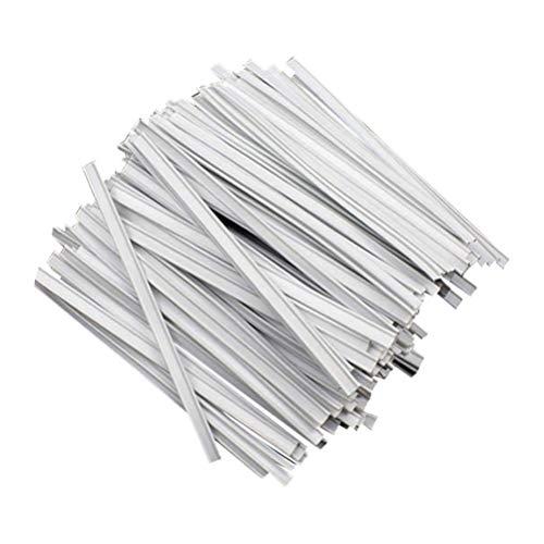 Artibetter Nasenbügel für Mundschutz Metallbügel Biegsamen Draht zum Fixieren im Nasenbereich Nasenbrücke Aluminiumstreifen für DIY Basteln Nähen Mundschutz Zubehör 200 Stück