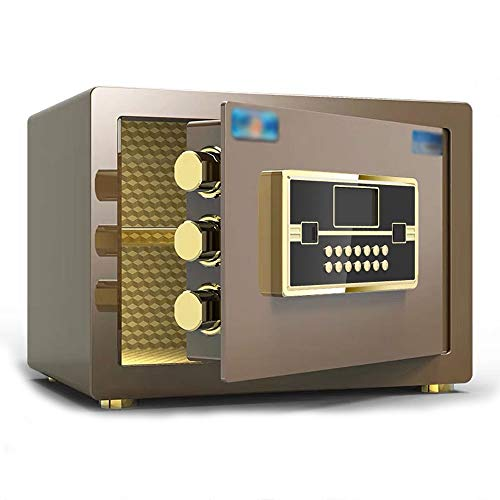 RKY Sicherheitsschrank, zu Hause kleines elektronisches Passwort Einzeltür Anti-Diebstahl-Tresor mit großer Kapazität, geeignet für: Büro/Zuhause/Finanzen, 3 Farben optional Schranksafes / - /