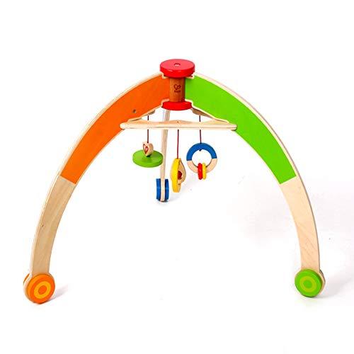 HSJCZMD Faltbare Holzboden Fitness-Studios, Triangel-Design des Baby-Fitness-Rahmen ist Stabiler, Kinder