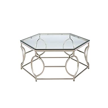HOMES: Inside + Out Iohomes Marilyn Geometric Chrome Frame Coffee Table