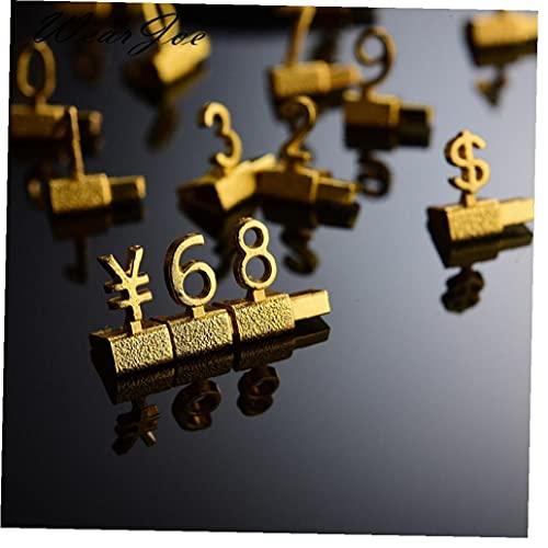 Ruluti Estantes De Metal Ajustable Precio Kit for Gold Shop Exhibición De Joyería Tienda Reloj Oficina De Visualización De Etiquetas De Precio
