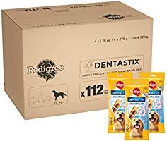 Pedigree DentaStix Daily Oral Care tandverzorgingssnack voor grote honden – hondenblackers met kip & rundsmaak voor elke...