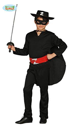 Guirca Costume da Zorro, Bandito, Colore Nero, 5/6 Anni, 78701