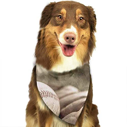 Osmykqe Hundebandana-Haustier-Schal-Baseballhandschuhe Klassischer niedlicher Haustier-Hündchen-Bandana-Schal Lätzchen