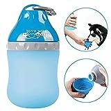 Daxiong Hundewasserflasche, faltbares Silikon, tragbarer Wasserkocher fr den Wasserzusammenbruch im Freien Babyflasche mit Karabiner fr Hunde,A