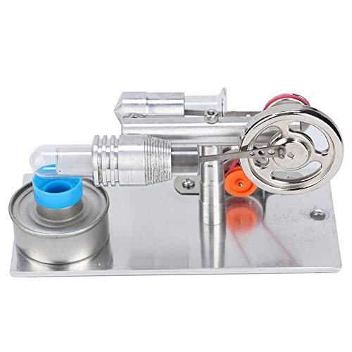 NATRUSS Mini generador de energía, generador de energía Modelo de enseñanza del Motor Stirling Motor Stirling del Ventilador Aire Caliente en Miniatura para el Modelo de enseñanza del Laboratorio