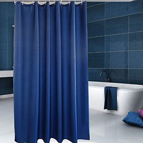 XdiseD9Xsmao Badkamer, eenkleurig, schimmelbestendig, waterdicht, dik douchegordijn, wasbaar, licht, badkamermeubel met haken