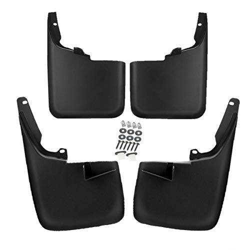 Set of 4 Mud Flaps Splash Guards for Ford F-250 F-350 Super Duty 2011-2016 without Factory Fender Flares