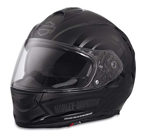 HARLEY-DAVIDSON Unisex Motorrad-Helm Biker Integralhelm X03 Frill Airfit Sun Shield ECE geprüft Anti-Beschlag Belüftet, S