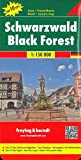 Schwarzwald, Autokarte 1:150.000, Top 10 Tips, freytag & berndt Auto+Freizeitkarten