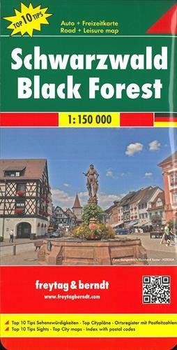 Selva Negra, mapa de carreteras. Escala 1:150.000. Freytag & Berndt.: Toeristische wegenkaart...