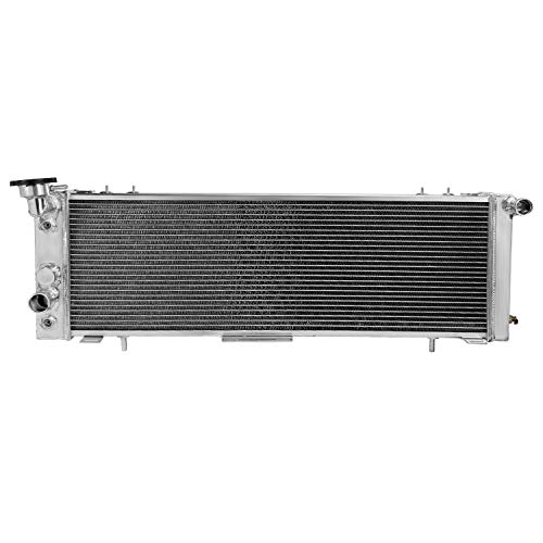 Spec-D Tuning 2.5L/4.0L 3-Core/Row Light Aluminum Cooling Radiator for 1991-2001 Jeep Cherokee Comanche
