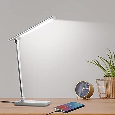 Desk Lamp with USB Charging Port,LED Eye-Caring...