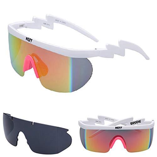 Gafas,Gafas de sol,New Fashion NEFF Sunglasses Men/Women Unisex Classic Brand Retro Sun Glasse Gafas De Sol Street 2 Lens Eyewear Feminino No Box C2