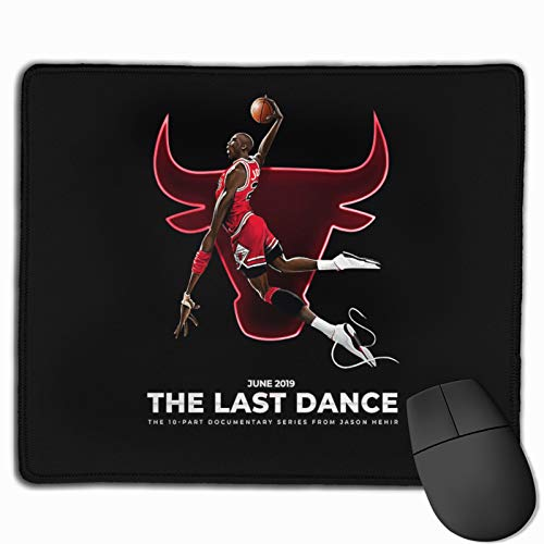 The Last Dance Mi-Chael JOR-Dan 1984-1998 Thank You for The Memories Mouse Pad Stitched Edges Premium Gaming Mouse Mat Pad,Non-Slip Rubber Base Thick Black Mousepad for Laptop Computer & PC