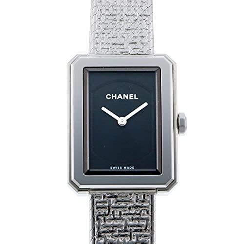 シャネル CHANEL ボーイフレンド ツイード S H4876 ブラック文字盤 中古 腕時計 レディース (W210373) [並行輸入品]