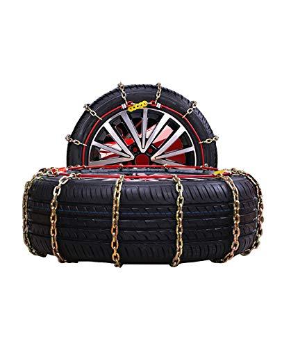 klj Cadena de Nieve Cadena de Coches Neumáticos Ajustables Cadena de Nieve Coche Off-Road Vehículo SUV Neumático Cadenas de Nieve Fácil de Instalar (Size : 175/65R14)