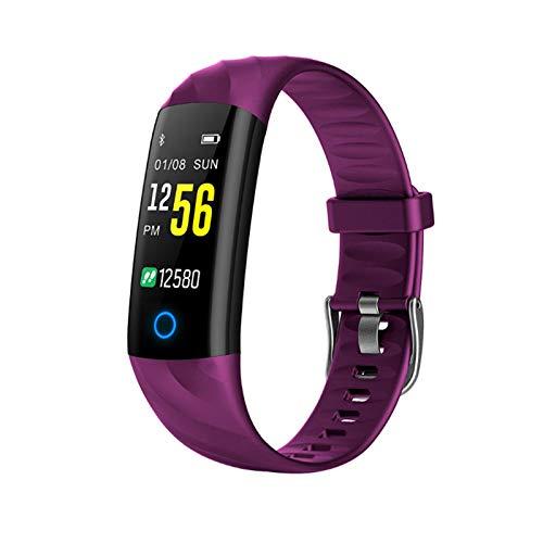 JXFF S5 Ladies Smart Watch Ritmo Cardíaco Monitor De Presión Arterial A Prueba De Agua Smartwatch Deportes Actividad Pedómetro Tracker Aptitud Pulsera para Android iOS,C