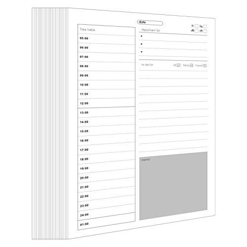 Bloc de planificador semanal, 40 Bloc de notas de escritorio desprendible con prioridad Planificador semanal Bloc de notas Planificador de gestión del tiempo Lista de cosas para hacer Cuaderno (Daily)