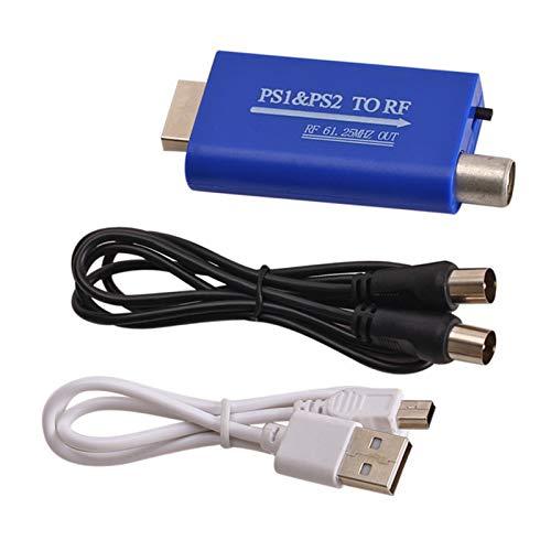 Homeriy Para PS1/PS2 a RF convertidor PS puerto a cable TV señal...