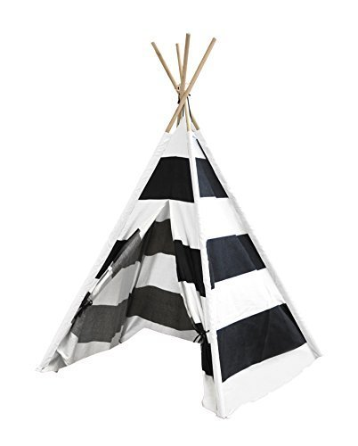 Heritage Kids Play Tent, Black and White Stripes by Heritage Kids