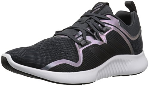 adidas Women's Edgebounce Mid Running Shoe, Carbon/Black/Night Metallic, 9 M US