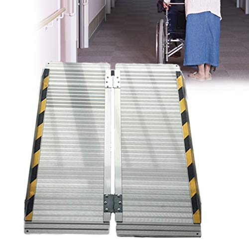 ZhiLianZhao Plegable Plataforma Silla De Ruedas Rampas con Multifunción Portátil Aluminio Rampa Silla Ruedas para La Escalera De De Home,35.4 * 28.3 in