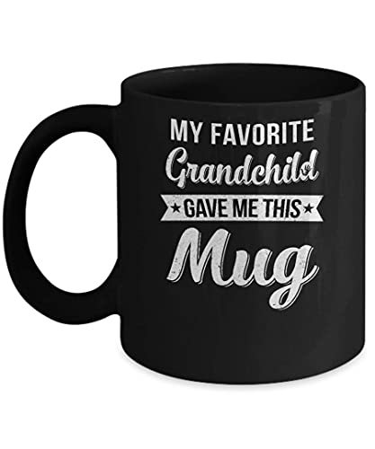 N\A Mi Nieto Favorito me DIO Esta Taza Taza de café para mamá La Mejor mamá de Todos los Tiempos Regalos Taza para el cumpleaños del día del Padre de la Madre Taza de cerámica de 11 onzas