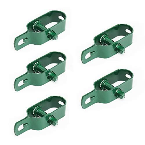 Linxor France ® Lot de 5 tendeurs en acier galvanisé plastifié N°2 pour fil de grillage ou autre - Vert - Norme CE