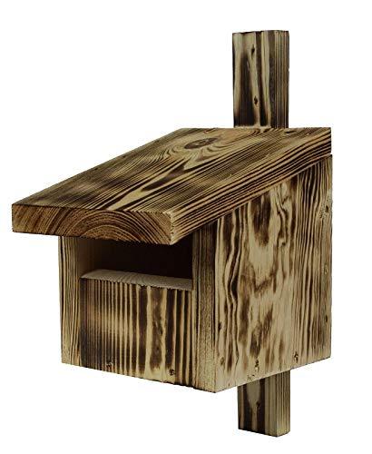 Vogelhaus für Redstarts, Amseln, Rotkehlchen und Turmfalken - verkohltes Holz