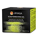 Iryasa Scalp Enriching Gel - Natural, Vegan Hydrating Scalp Treatment for Dry Itchy Scalp, Psoriasis Scalp Treatment, Eczema Scalp Treatment - Organic Rosemary & Tea Tree Oil Scalp Treatment - 1.7oz