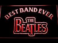 The Beatles Best Band Ever LED看板 ネオンサイン ライト 電飾 広告用標識 W30cm x H20cm レッド