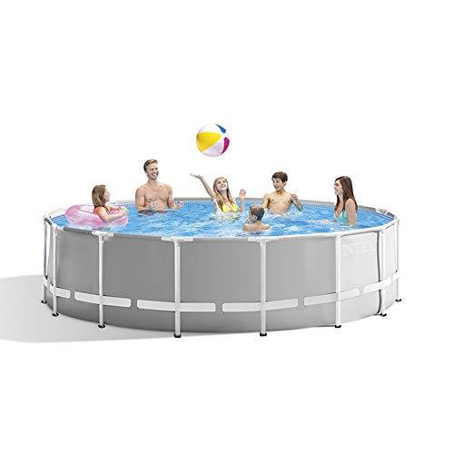 YKHOME Grande Piscina, Centro di Nuoto per Bambini E Adulti,con Staffa in Tubo d'Acciaio, Rettangolare da Giardino Stagno da Pesca di Grande capacità Ispessito Blu