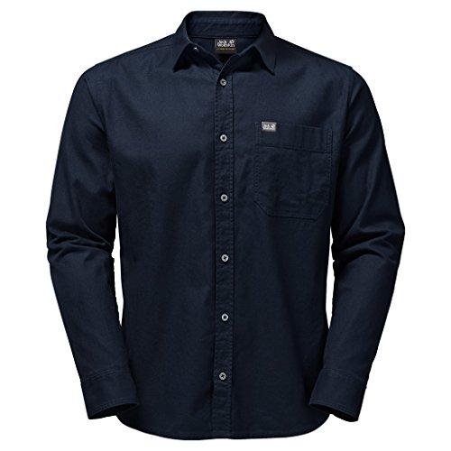 Jack Wolfskin Camisa para Hombre, Azul, S