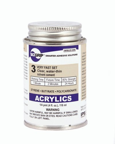 SCIGRIP Weld-On #3 Adhesive, 4 oz. and Weld-On Applicator Bottle with Needle