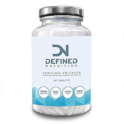 Marine Collagen Supplement - High Strength Collagen Tablets for Skin, Hair, Nails and Joints Vitamin C & E