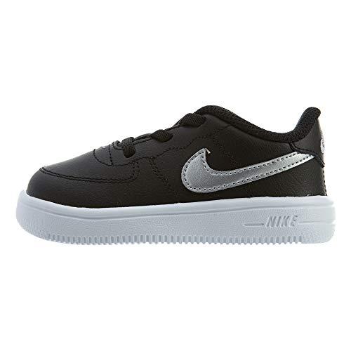 Nike Jungen Unisex Baby Force 1'18 (td) Hausschuhe, Schwarz (Black/Metallic Silver 003), 22 EU