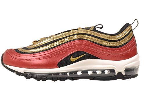 Zapatillas Nike Air MAX 97 Icon Clash para Mujer, (Rojo Universitario/Oro metálico.), 38.5 EU