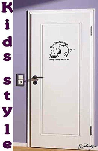 TREND KIDS - Tür/Wand Tattoo fürs Kinderzimmer ***Keine... lärmberuhigte ZONE*** - (Größen und Farbauswahl)