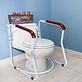 Cocoarm Toilettengestell Rutschfest Sicherheitsgestelle für Toiletten WC-Aufstehhilfe Badezimmer Toiletten Sicherheits Haltestange für Senioren - 6
