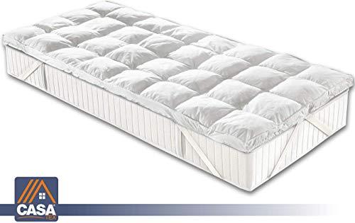 Casatex Topper Bed Correttore Materasso Singolo in Microsfere, Trapuntato, Anallergico e Traspirante
