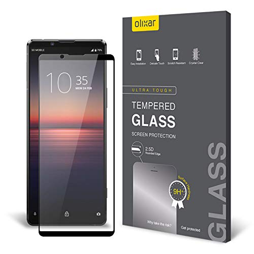 protector for xperia Olixar Screen Protector for Sony Xperia 1 II, Tempered Glass - Reliable Protection, Supports Device Features - Full Video Installation Guide