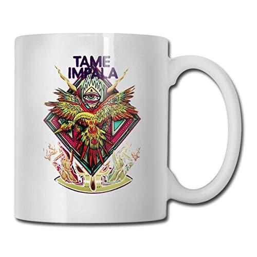 Tame Impala Taza de café Taza de té Taza de vino Taza divertida Taza de cerámica blanca Taza grande C-mango impresión doble cara