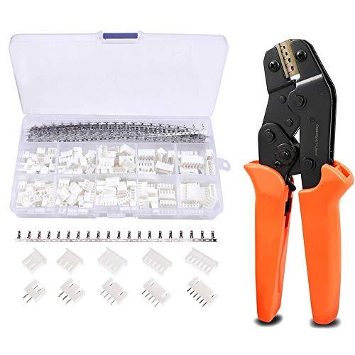 460pcs 2,54 mm JST-XH JST Stecker Kit mit Ratschen Crimpzange für 0,1-1,5mm² AWG28-16 Steckverbinder Kabel