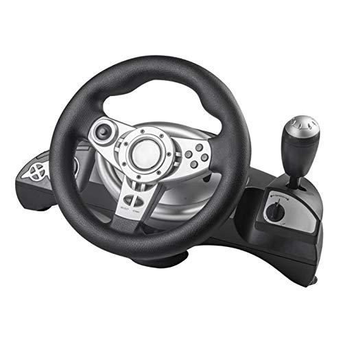 #N/A/a Rueda de Carreras, Volante de Juego de Carreras USB de 270 Grados con Kit de Pedal para PS4/PS3/PC, diseño Realista Que te Permite Conducir tu Coche