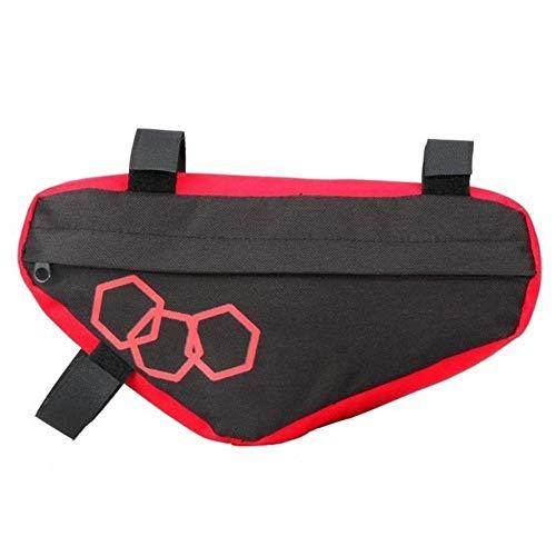 Bolsa de cuadro de bicicleta MTB del bolso del triángulo de la bicicleta del marco del tubo del frente bolsas impermeables de doble capa de aislamiento Equipo de almacenamiento Riding para MTB al aire