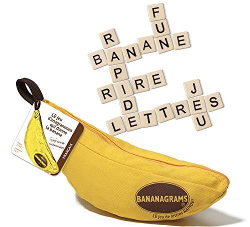 BANANAGRAMS–Juego de reflexión, 91097, Color Amarillo (versión Francesa)