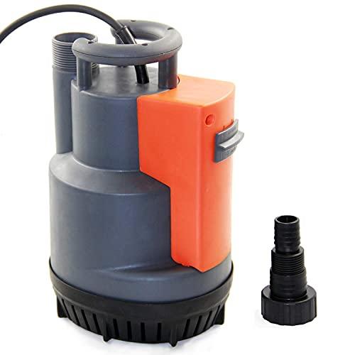 Amazon Brand - Umi Pompe à eau submersible automatique, avec interrupteur à flotteur intégré et débit maximal de 11500 l/h, pour drainage et transfert d'eau propre, 550W
