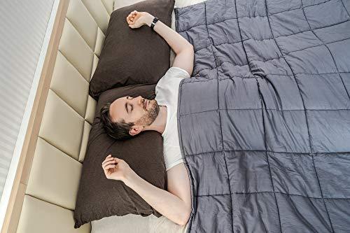MIRAN Gewichtsdecke Für Erwachsene | Schwere Bettdecke | 100% Baumwolle | Für Große Betten | Premium Glasperlen | Reduziert Stress und Angstattacken (EU King-Size [150cm x 210cm] - 11Kg (25lbs))