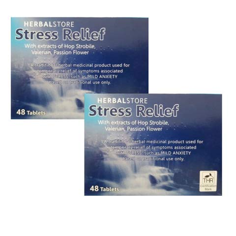 96 Stress Aid & Relief Tablets Mild Anxiety Low Mood